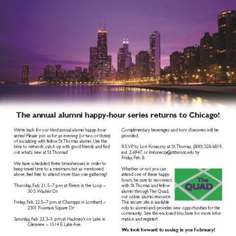 Alumni Happy Hour invitation