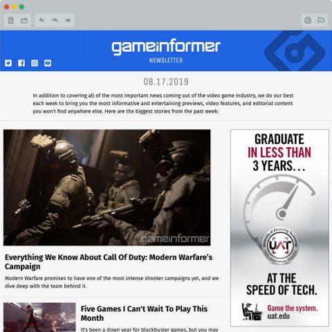 GameInformer Newsletter Thumbnail