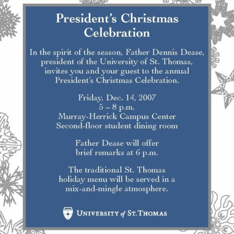 President's Christmas Celebration invitation